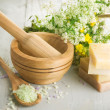 Herbal Cosmetics. Spa Products — Stock Photo #10684672