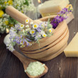 Stock Photo: Natural Herbal Products. SpCosmetics