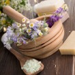 Stock Photo: Natural Herbal Spa Products