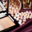 Make-up. Makeup accessories background - Stock Photo