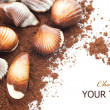 Stock Photo: Chocolate Seashells