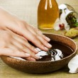 Hands Spa. Manicure concept - 图库照片