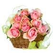 Roses in the Basket - Stock Photo