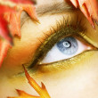 Autumn eyes Makeup — Stock Photo