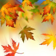 Royalty-Free Stock Photo: Falling Autumn Leaves