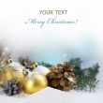 Tarjeta de regalo de Navidad — Foto de Stock