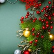 Christmas Decorations border design. Vintage Style — Stock Photo