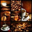 koffie collage — Stockfoto