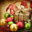 Christmas Card. Retro styled Gifts — Stock Photo #10687153
