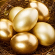 Royalty-Free Stock Photo: Golden Nest Eggs