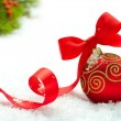Christmas and New Year Decorations.Bauble — Stockfoto