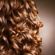 Curly Hair. Hairdressing. Wave .Natural Hair — Foto de Stock