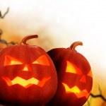 Halloween Pumpkins. Border Design — Stock Photo