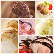 Ice Cream Set - Foto Stock
