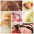 Ice Cream Set - Stockfoto