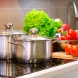 Kitchen Cooking closeup. Diet - Stock Photo