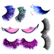 False Eyelashes set over white. Makeup Concept - Stock Photo