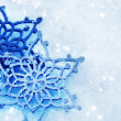 Winter Snow Background. Snowflakes - Stock Photo