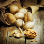 Walnuts. Vintage styled — Stock Photo