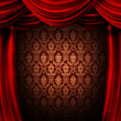 Stockfoto: Red Curtain