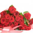 Big Red Roses Bouquet - Stock Photo