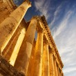 Lebanon. Old Ruins. Roman Columns in Baalbeck - Stock Photo