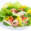 Healthy Salad With Shrimps — Stock Photo #10688319