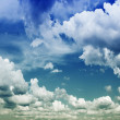 Background Of Cloudy Sky - Stock Photo