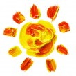 Stock Photo: Painted Sun