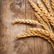 Wheat Ears on the Wood Background — Stock Photo