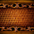 Rattan Furniture Detail.Abstract Background — Stock Photo