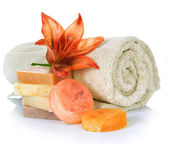 Spa Products. Handmade Soap — Stock Photo