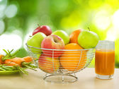 Healthy Food. Organic Fruits and Vegetables — Stock Photo