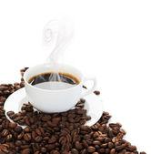 Hot Coffee Border — Stock Photo