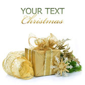 Christmas Gift over white — Stock Photo