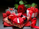 Valentine Romantic Dinner — Stock Photo