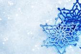 冬季雪背景。雪花 — 图库照片
