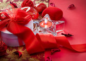 Valentine's Day Card Design. Gift — Stockfoto