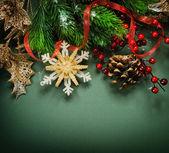 Christmas Vintage decoration border design — Stock Photo