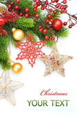 Decoración de navidad en blanco — Foto de Stock