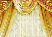 Luxury Velvet Curtain — Stock Photo