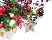 Frontera de navidad diseño sobre blanco — Foto de Stock