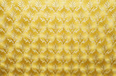 Golden Damask Wallpaper — 图库照片