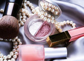 Make Up Background. Makeup Accessories — Stock Photo