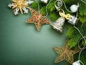 Christmas border design. Vintage Styled — Stock Photo