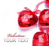 Valentine Hearts over white — Stock Photo