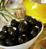 Black Olives Closeup. Selective Focus — Stock Photo