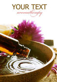 Aromatherapy. Essential Oil Isolated On White. Spa Treatment — Stock Photo