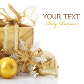 Christmas Gift Isolated On White — Stock Photo