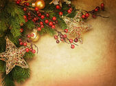 Christmas Vintage Greeting Card with copy space — Stock Photo